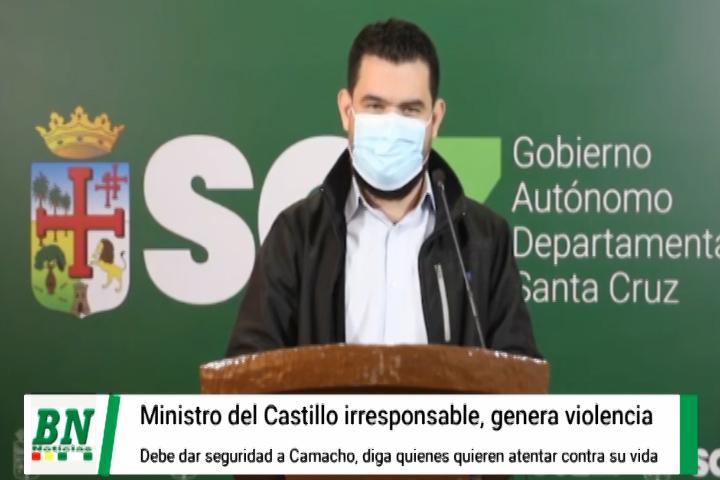 Lee más sobre el artículo Ante amenazas contra Camacho le piden a Ministro no ser irresponsable, debe declarar en Santa Cruz