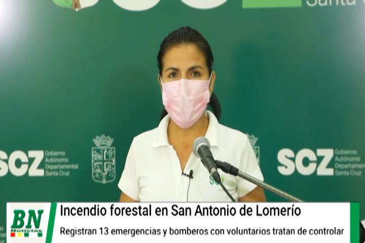 Lee más sobre el artículo Se registra un nuevo incendio en San Antonio de Lomerío, con este son 13 emergencias las que se están tratando de controlar en el Departamento