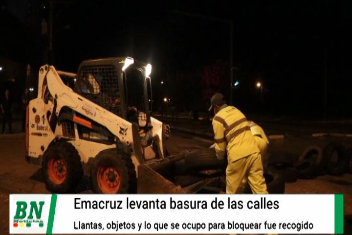 Lee más sobre el artículo Emacruz inició recolección de llantas y escombros en la ciudad después una jornada de paro cívico