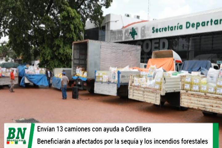 Lee más sobre el artículo Envían 13 camiones con ayuda a la provincia Cordillera para afectados por incendios y sequía