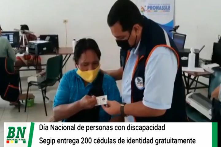 Lee más sobre el artículo Segip entregó 200 cédulas de identidad a personas con discapacidad en su día y realizan actividades recreativas